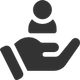 person in hand icon